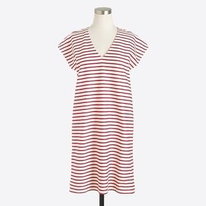 JCrew red and white striped shift